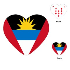 Banner Flag Sun Line Chevron Red White Black Blue Playing Cards (heart)  by Mariart