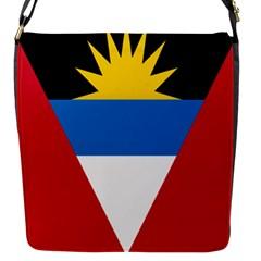 Banner Flag Sun Line Chevron Red White Black Blue Flap Messenger Bag (s) by Mariart