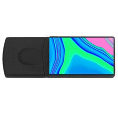 Aurora Color Rainbow Space Blue Sky USB Flash Drive Rectangular (2 GB) by Mariart