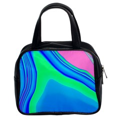 Aurora Color Rainbow Space Blue Sky Classic Handbags (2 Sides) by Mariart