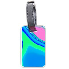 Aurora Color Rainbow Space Blue Sky Luggage Tags (two Sides) by Mariart