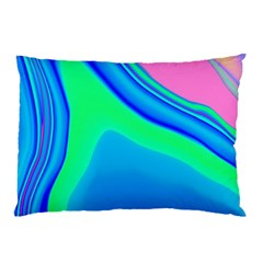 Aurora Color Rainbow Space Blue Sky Pillow Case (two Sides) by Mariart