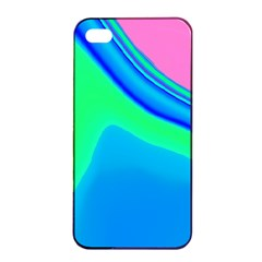 Aurora Color Rainbow Space Blue Sky Apple iPhone 4/4s Seamless Case (Black) by Mariart