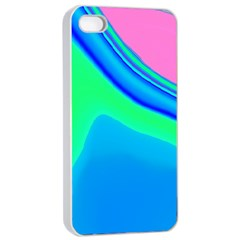 Aurora Color Rainbow Space Blue Sky Apple Iphone 4/4s Seamless Case (white) by Mariart