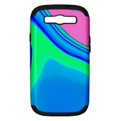 Aurora Color Rainbow Space Blue Sky Samsung Galaxy S Iii Hardshell Case (pc+silicone) by Mariart