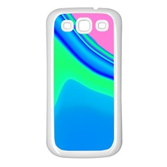 Aurora Color Rainbow Space Blue Sky Samsung Galaxy S3 Back Case (white) by Mariart