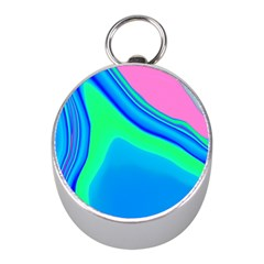 Aurora Color Rainbow Space Blue Sky Mini Silver Compasses by Mariart