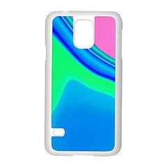 Aurora Color Rainbow Space Blue Sky Samsung Galaxy S5 Case (white) by Mariart