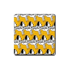 Animals Cat Dog Dalmation Square Magnet by Mariart