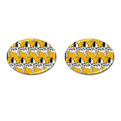 Animals Cat Dog Dalmation Cufflinks (oval) by Mariart