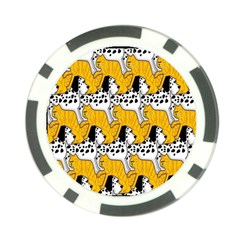 Animals Cat Dog Dalmation Poker Chip Card Guard by Mariart