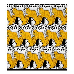 Animals Cat Dog Dalmation Shower Curtain 66  X 72  (large)  by Mariart