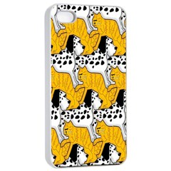 Animals Cat Dog Dalmation Apple Iphone 4/4s Seamless Case (white) by Mariart
