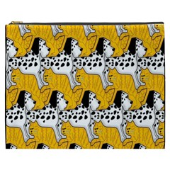 Animals Cat Dog Dalmation Cosmetic Bag (xxxl)  by Mariart