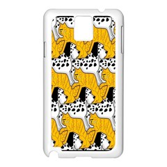 Animals Cat Dog Dalmation Samsung Galaxy Note 3 N9005 Case (white) by Mariart