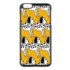 Animals Cat Dog Dalmation Apple Iphone 6 Plus/6s Plus Black Enamel Case by Mariart