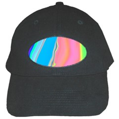 Aurora Color Rainbow Space Blue Sky Purple Yellow Green Pink Black Cap by Mariart
