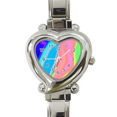 Aurora Color Rainbow Space Blue Sky Purple Yellow Green Pink Heart Italian Charm Watch by Mariart