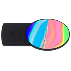 Aurora Color Rainbow Space Blue Sky Purple Yellow Green Pink Usb Flash Drive Oval (4 Gb) by Mariart