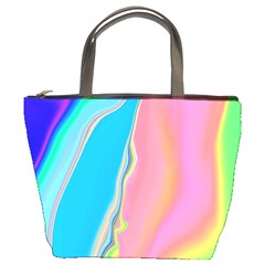 Aurora Color Rainbow Space Blue Sky Purple Yellow Green Pink Bucket Bags by Mariart