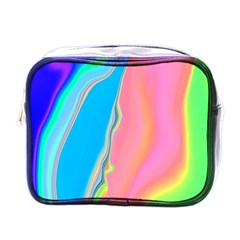 Aurora Color Rainbow Space Blue Sky Purple Yellow Green Pink Mini Toiletries Bags by Mariart