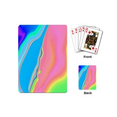 Aurora Color Rainbow Space Blue Sky Purple Yellow Green Pink Playing Cards (mini)  by Mariart