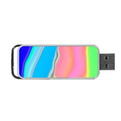 Aurora Color Rainbow Space Blue Sky Purple Yellow Green Pink Portable Usb Flash (one Side) by Mariart