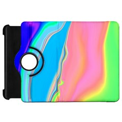 Aurora Color Rainbow Space Blue Sky Purple Yellow Green Pink Kindle Fire Hd 7  by Mariart