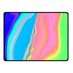 Aurora Color Rainbow Space Blue Sky Purple Yellow Green Pink Double Sided Fleece Blanket (small)  by Mariart