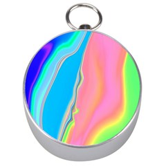 Aurora Color Rainbow Space Blue Sky Purple Yellow Green Pink Silver Compasses by Mariart