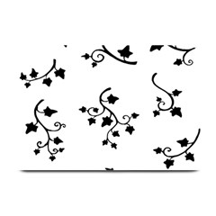 Black Leaf Tatto Plate Mats by Mariart