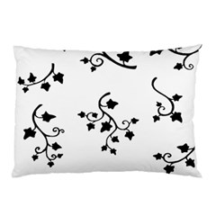 Black Leaf Tatto Pillow Case by Mariart