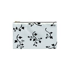 Black Leaf Tatto Cosmetic Bag (small)  by Mariart