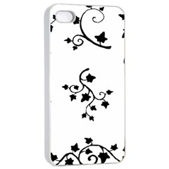 Black Leaf Tatto Apple Iphone 4/4s Seamless Case (white) by Mariart