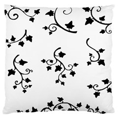 Black Leaf Tatto Large Cushion Case (two Sides) by Mariart