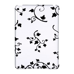 Black Leaf Tatto Apple Ipad Mini Hardshell Case (compatible With Smart Cover) by Mariart