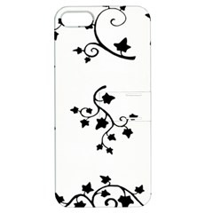 Black Leaf Tatto Apple Iphone 5 Hardshell Case With Stand by Mariart
