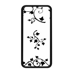 Black Leaf Tatto Apple Iphone 5c Seamless Case (black) by Mariart