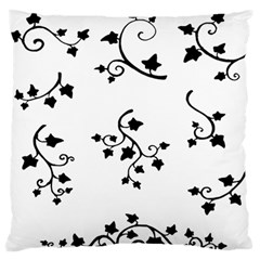 Black Leaf Tatto Standard Flano Cushion Case (one Side) by Mariart