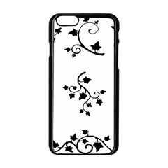 Black Leaf Tatto Apple Iphone 6/6s Black Enamel Case by Mariart