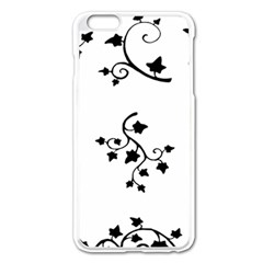 Black Leaf Tatto Apple Iphone 6 Plus/6s Plus Enamel White Case