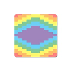 Carmigender Flags Rainbow Square Magnet by Mariart
