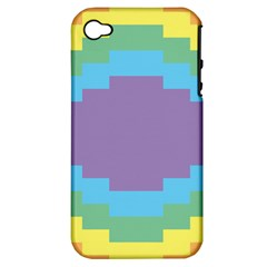 Carmigender Flags Rainbow Apple Iphone 4/4s Hardshell Case (pc+silicone) by Mariart