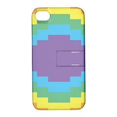 Carmigender Flags Rainbow Apple Iphone 4/4s Hardshell Case With Stand by Mariart