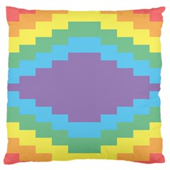 Carmigender Flags Rainbow Standard Flano Cushion Case (two Sides) by Mariart