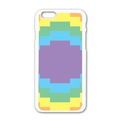 Carmigender Flags Rainbow Apple Iphone 6/6s White Enamel Case by Mariart