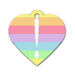 Condigender Flags Dog Tag Heart (two Sides) by Mariart