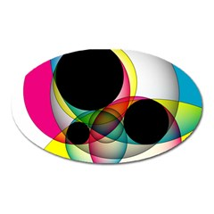 Apollonius Color Multi Circle Polkadot Oval Magnet by Mariart