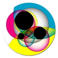 Apollonius Color Multi Circle Polkadot Magnet 5  (round) by Mariart