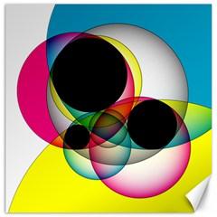 Apollonius Color Multi Circle Polkadot Canvas 12  X 12   by Mariart